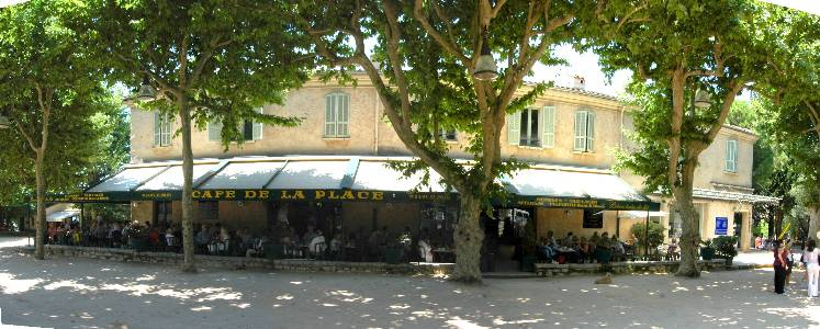 cafe de la place st paul de vence by david martin taken with na. Black Bedroom Furniture Sets. Home Design Ideas